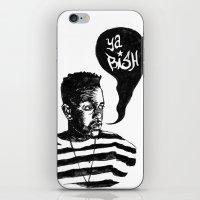 kendrick lamar iPhone & iPod Skins featuring Kendrick Lamar by Paganimal