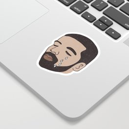 drake crying Sticker