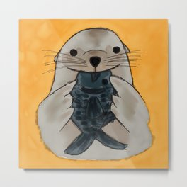 Fishy Seal Metal Print