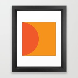 Orange Rising Framed Art Print