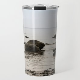 Stones in the water. Travel Mug