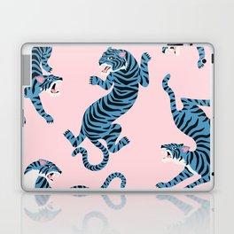 Pastel Pink & Blue Tiger Pattern Laptop & iPad Skin