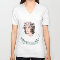 coconutwishes V-neck T-shirts featuring Be nice to nice by Coconut Wishes