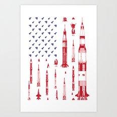 Patriotic Spacecraft Art Print
