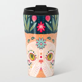 Candied Sugar Skull Kitty Travel Mug