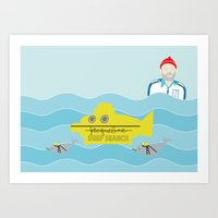 the life aquatic Art Prints featuring Life Aquatic by Arthurs Plaid Pants