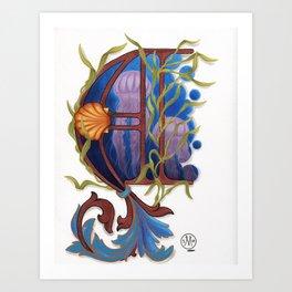 Letter A illuminated Art Print