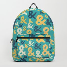 Ampersand Pattern Backpack