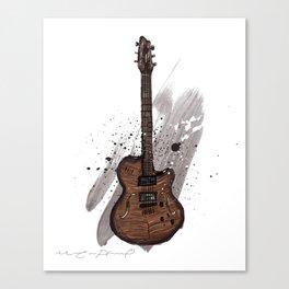 Western guitar Canvas Print