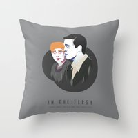 kieren walker Throw Pillows featuring In The Flesh - Kieren & Simon by Aferova