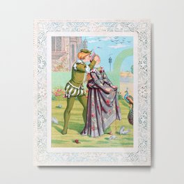 Kate Greenaway - Valentine, Blindfold - Digital Remastered Edition Metal Print