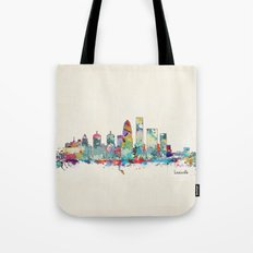 Louisville Kentucky skyline Tote Bag