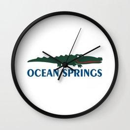 Ocean Springs  Mississippi. Wall Clock