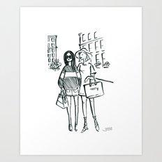 Brush Pen Fashion Illustration - Friends Art Print