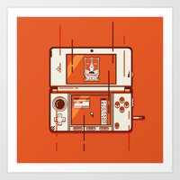 nintendo Art Prints featuring Nintendo 3DS by vectory