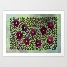Hedgerow Art Print