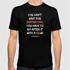 Go After Inspiration With A Club Black SMALL Mens Fitted Tee