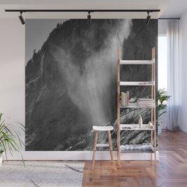 The Ghost. Lauterbrunnen Waterfalls. Alps. Switzerland. Bw Wall Mural