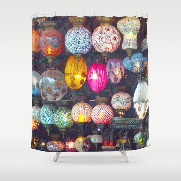 Turkish Lights Shower Curtain