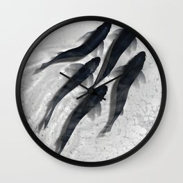 The carp's journey 3 Wall Clock