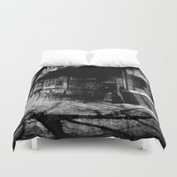 cafe Duvet Covers featuring The Cafe by Groovyal