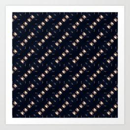 Dancing stars pattern Art Print