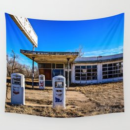 Abandoned Gas Station Wall Tapestry