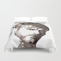 charlie brown Duvet Covers featuring Charlie Watercolour by Sophie Brown Art