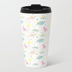 Dinosaur Pattern Metal Travel Mug