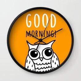 Funny owl Wall Clock