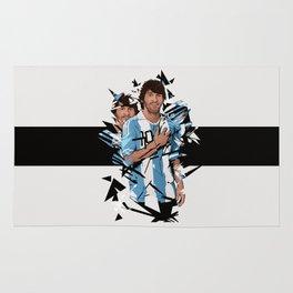 Football Legends: Lionel Messi Argentina Rug