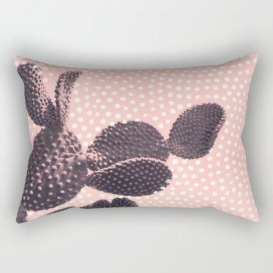 Cactus with Polka Dots Rectangular Pillow