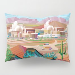 Power Generating Station in Desert Pillow Sham