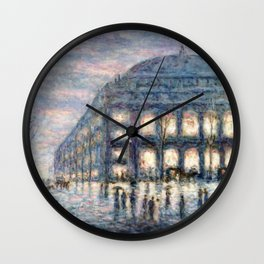 View of the Theâtre du Châtelet by Maximilian Luce Wall Clock