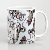 surrealism Mugs featuring Street ∫ Animal Surrealism by Alejo Malia