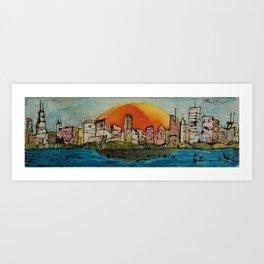 Color Me Chicago Art Print