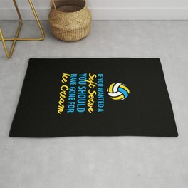 Volleyball Gift Serve Ice Cream Volleyball Gifts Rug