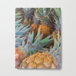 Hawaiian Pineapple Stand Metal Print