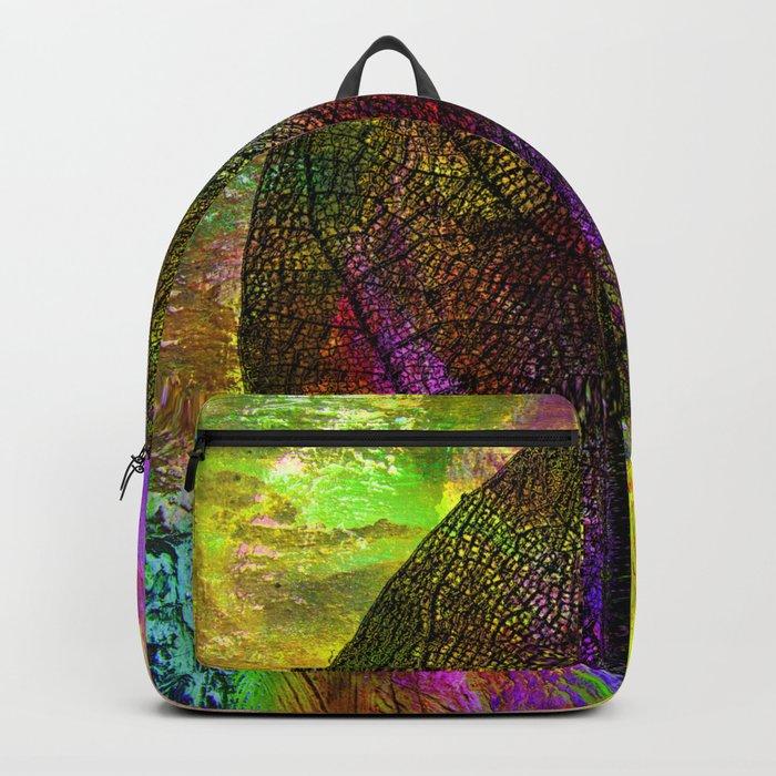 rainbow leaf Backpack