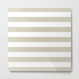 Beach Sand and White Stripes Metal Print