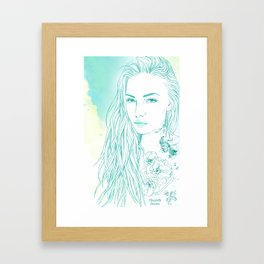 Summer tattoo Framed Art Print