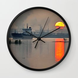 International sunset Wall Clock