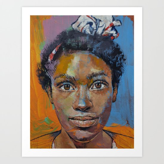 Portrait of Toni Art Print