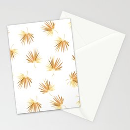 Golden Boho Palm Leaf Watercolor Stationery Cards