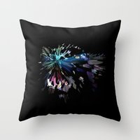 panther Throw Pillows featuring PANTHER by mobokeh