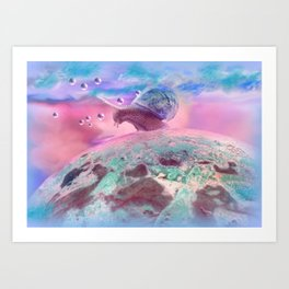 Snail country Art Print