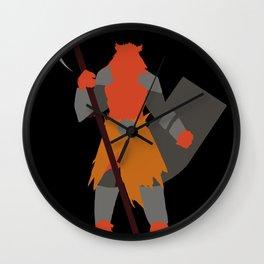 Cat Warrior Silhouette Wall Clock