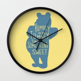 Rumbly in my Tumbly Time for Something Sweet - Winnie the Pooh inspired Print Wall Clock