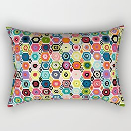 hex diamond white Rectangular Pillow