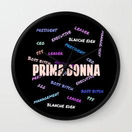PRIMA DONNA I Wall Clock